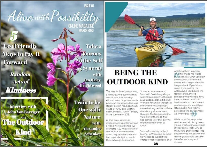 The Outdoor Kind featured in new online magazine!